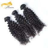 Уток человеческих волос девственницы Remy бразильянина волос 100 Alimina