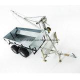 De Lader van het Logboek ATV, de Aanhangwagen van het Netwerk ATV, de Aanhangwagen van het Hout ATV met Kraan