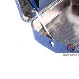 metal elegante de la parte posterior del arco de la caja del rodillo del cigarrillo del rectángulo del balanceo del tabaco del grano del azul de 70m m