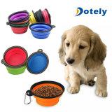 Nettes Haustier-Hundekatze-Silikon-zusammenklappbare Arbeitsweg-Filterglocke-Teller-Speisewasser-Zufuhr