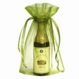 L'Organza vin sac cadeau avec ruban de satin coulisse