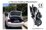 Fauteuil roulant électrique Et-12f22 de couleur noire, pliable et portatif