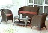 Для использования вне помещений плетеной диван с подушкой садовая мебель для отдыхающих диван (TG-1260)