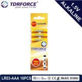 Bateria Seca alcalina com marcação aprovado para o brinquedo 12PCS em caixa de papelão (LR6-Tamanho AA)