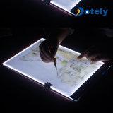 Tarjeta de la plantilla de la copia del gráfico del LED que rastrea
