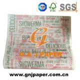 100% hölzernes Massen-36GSM gedrucktes Butterbrotpapier für Großverkauf