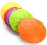 Soem-umweltfreundlicher Gummihaustier-Hundespielzeug-FliegenSaucerFrisbee