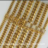 Chaîne de tige cubaine remplie lourde neuve de Miami de l'or 18K italien