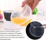 Runde Wegwerfkasten-Plastikverpackungs-starke transparente Mittagessen-Kasten-Mittagessen-Schnellimbiss-Mittagessen-Filterglocke des mittagessen-2000ml