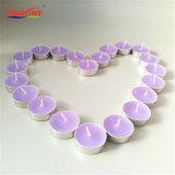De met de hand gemaakte Kaars van Tealight van de Kop van de Aluin van de Lavendel Aromatische in Massa