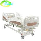 Trilho do leito PP 3 manivelas cama hospitalar de Medicina Manual com indicador de ângulo