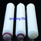 Vapor SterilizationのFiltrationのための疎水性0.45um PTFE Pleated Filter Cartridge