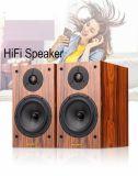 Étagère hi-fi haut-parleur avec finition en bois véritable