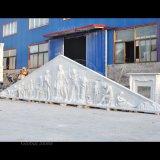 Большой дом верхней части белого мрамора скульптура по оказанию чрезвычайной помощи (GSRE-108)