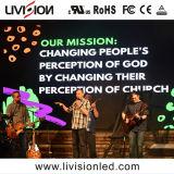 P3.91教会LEDスクリーン/3.91mmの舞台の背景のLED表示スクリーン