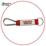 Patch de PVC Mosquetão Keyring Tecidos de corda de Correia Curta Para a promoção