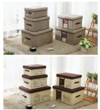 Non Woven Cardboard Bedroom Child Fabrics Cover Storage Box with Lid