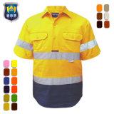 Overhemd van het Werk van de Koker Workwear hallo Vis van de douane het Weerspiegelende Korte