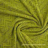 Полые текстуру из жаккардовой ткани кружева трикотажный спандекс ткани для линии бикини