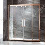 Doccia di lusso della stanza da bagno di vetro di scivolamento della qualità superiore 304SUS di prezzi all'ingrosso G02p02