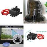 Gleichstrom 12V fließen Fisch-Becken-Solarpumpen der Ultra-Ruhigen Zirkulations-220L/H versenkbare