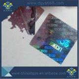 Één de Keer Gebruikte Sticker van de Laser van het Hologram