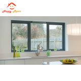 Finestra di scivolamento di alluminio di vetro su ordinazione di alta qualità di Feelingtop doppia