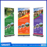 Bannerの上のPrintedカスタムOutdoor Advertizing Pull up StandのAlAlloy Retractable Poster Roll