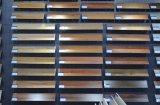 Tegel 150X800 van de Bevloering van het Gebruik van het Restaurant van de Stijl van Frankrijk de Zwarte Gelamineerde