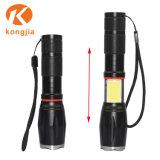 Основное внимание уделяется початков регулируемая высокая мощность T6 светодиодный фонарик аккумулятор