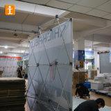 展覧会の立場デザイン背景幕の壁によっては陳列台が現れる