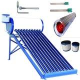 Non-Pressurized colector solar térmico de los sistemas de calefacción solar de agua caliente/calentador de agua solar