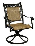 Pátio moderno de baralho de bar / cadeira com Batyline Mesh Sling Textilene Hotel Bistro Cafe Deck