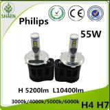 Faro luminoso eccellente dell'automobile LED di 55W 5200lm H4 P6