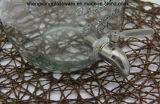 Água do armazenamento/frasco de vidro do vinho/bebida com tampa e torneira do metal