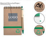 Caderno de papel recicl do caderno verde Eco-Friendly