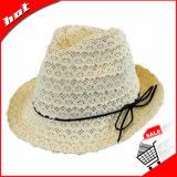 Chapéu de mulher de chapéu de nylon Fedora Hat