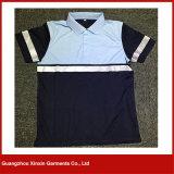 Les hommes court- la chemise de travail de polo de force de chemise salut (P77)