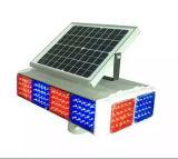 El tráfico por carretera Cuatro lateral solar Visual LED parpadeante luz de advertencia de Policía