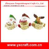 Décoration de Noël (ZY14Y178-1-2-3) Panier bol en bois Décoration de Noël