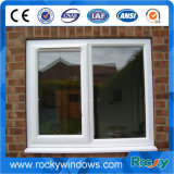 China fabricante de aluminio blanco Casement Windows con travesaño