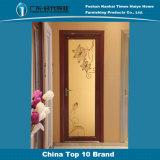 Puerta de oscilación de aluminio de la decoración simple de la decoración de la flor del espejo del color de Champán