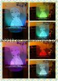 Персонализированный свет ночи 3D с вашими конструкция на акриловой доске