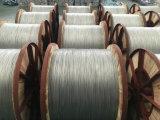 Le fil de masse de la fibre optique de matériel, l'acier à revêtement aluminium fil unique