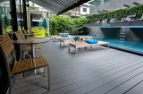 Um deck Wood-Plastic Composite-WPC fabricados na China
