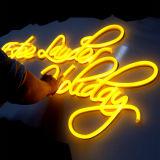 Sinal de néon do diodo emissor de luz da cor flexível impermeável feita sob encomenda quente da variedade das vendas