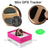 Mini perseguidor de moda del GPS con la Geo-Cerca para los ancianos/los cabritos/los animales domésticos T8s