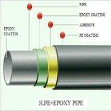 Линия стальная труба спирали углерода покрытия API 3PE сваренная для масла воды