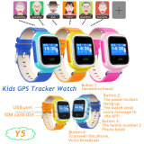 "1.0 "" Sos Button Y5를 가진 다채로운 Screen Kids GPS Tracker Watch"