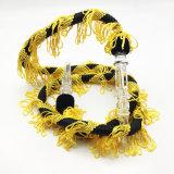 Tube en plastique noir jaune de boyau de narguilé du modèle 1.5m Shisha de lacet (ES-HH-002-3)